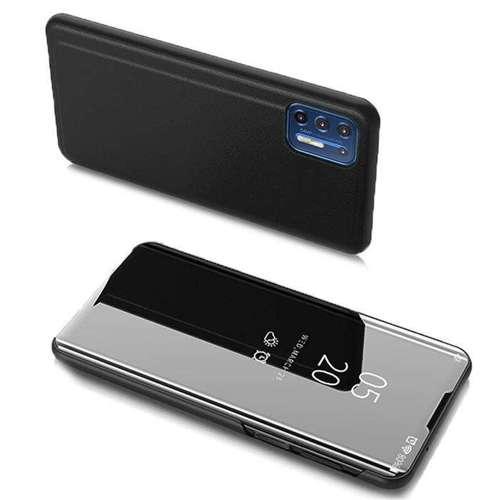 Clear View Case futerał etui z klapką Motorola Moto G9 Plus czarny