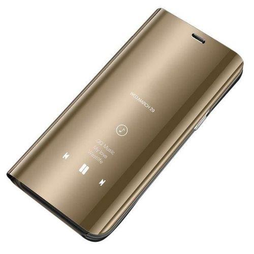 Clear View Case futerał etui z klapką Samsung Galaxy A10 / Galaxy M10 złoty