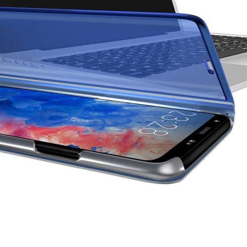 Clear View Case futerał etui z klapką Samsung Galaxy A71 niebieski