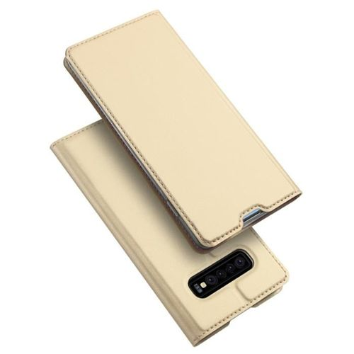 DUX DUCIS Skin Pro etui pokrowiec z klapką Samsung Galaxy S10 Plus złoty