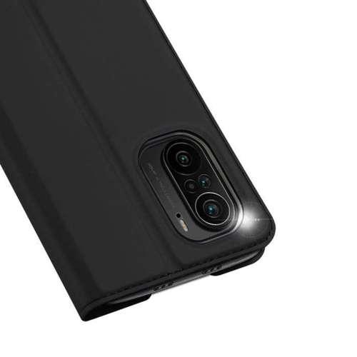 DUX DUCIS Skin Pro kabura etui pokrowiec z klapką Xiaomi POCO F3 czarny