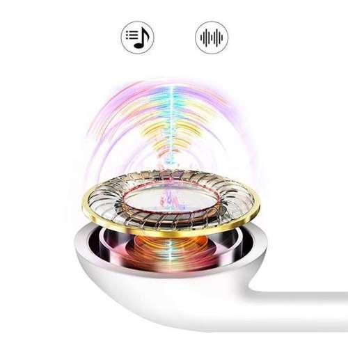 Dudao douszne przewodowe słuchawki mini jack 3.5mm zestaw słuchawkowy biały (X10S white)