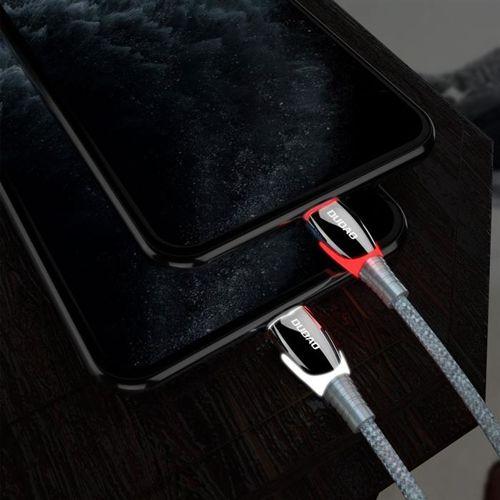 Dudao kabel przewód USB - USB Typ C 1,23m 3A szary (L7Pro grey)