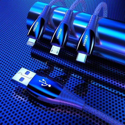 Dudao kabel przewód USB - micro USB 1,23m 3A szary (L7Pro grey)