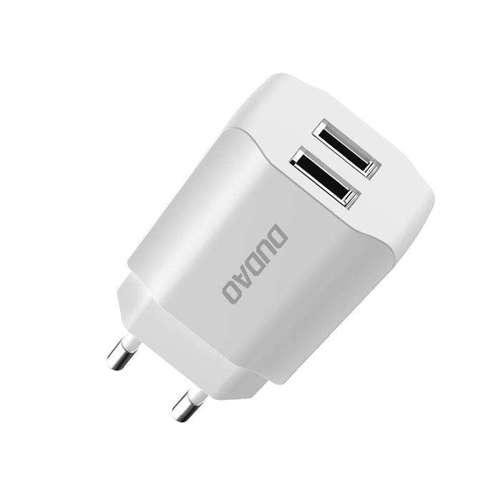 Dudao ładowarka sieciowa EU 2x USB 5V/2.4A biały (A2EU white)