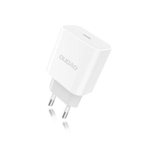 Dudao szybka ładowarka sieciowa EU USB Typ C Power Delivery 18W biały (A8EU white)