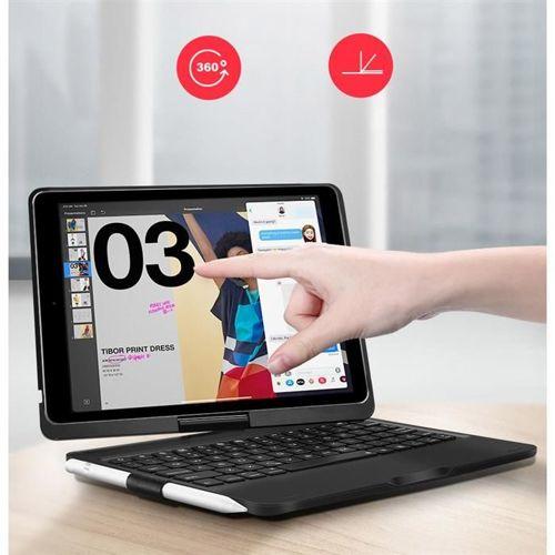 Dux Ducis etui case na tablet bezprzewodowa klawiatura Bluetooth 4.0 iPad Pro 10.5 2017 / iPad Air 2019 czarny
