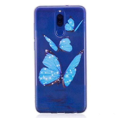 ETUI SLIM CASE ART HUAWEI MATE 10 LITE BLUE BUTTERFLY