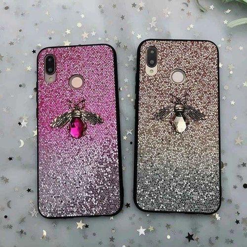 Etui Bee Glitter HUAWEI P SMART 2019 różowe