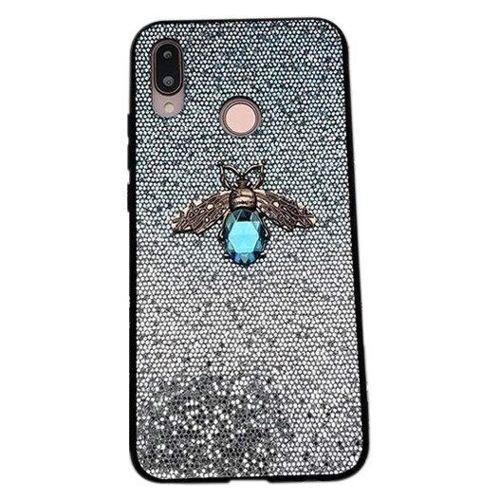 Etui Bee Glitter SAMSUNG GALAXY A70 niebieskie