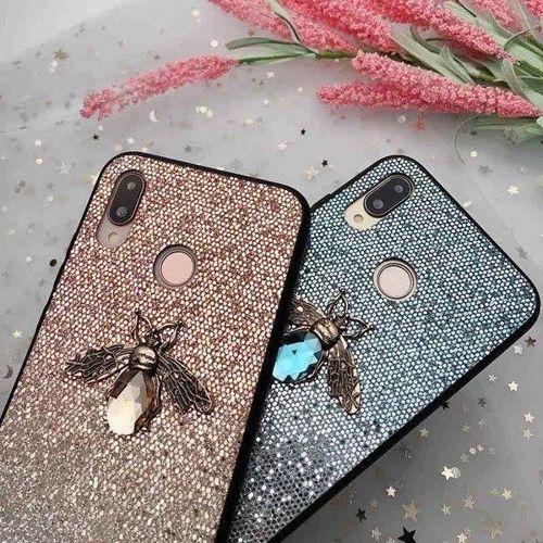 Etui Bee Glitter XIAOMI REDMI NOTE 7 niebieskie