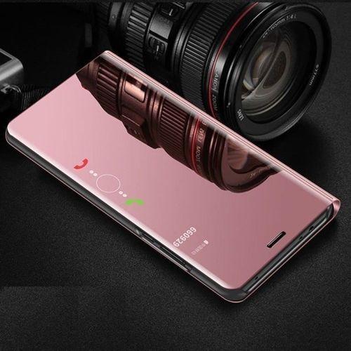 Etui Clear View Cover SAMSUNG J6+ J6 Plus różowe
