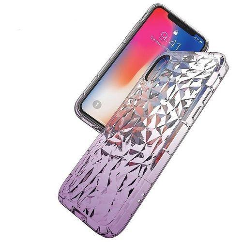 Etui Diamond Ombre HUAWEI Y6 2018 fioletowe