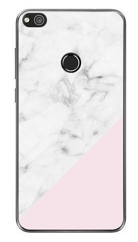 Etui Foto biały marmur z pudrowym na Huawei P9 LITE 2017