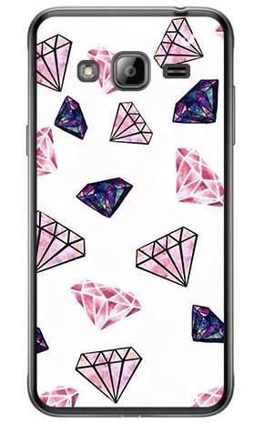 Etui Foto różowe diamenty na Samsung GALAXY J3 2016