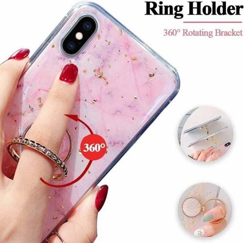 Etui HUAWEI P SMART 2019 Marble Ring jasny róż