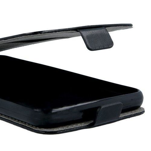 Etui LG K30 2019 Kabura Pionowa Rubber z klapką czarne