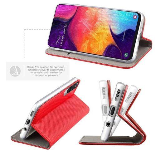 Etui LG K50S portfel z klapką Flip Magnet czerwone