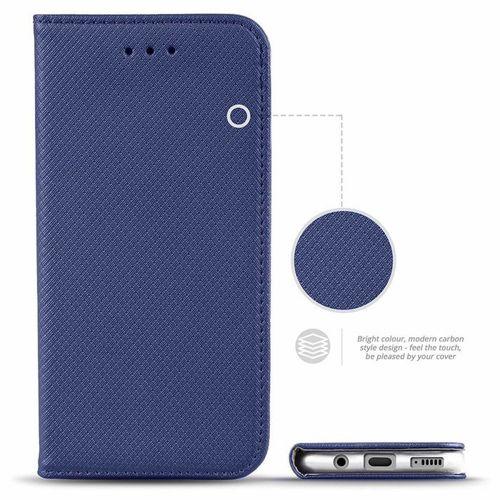 Etui LG K50S portfel z klapką Flip Magnet granatowe