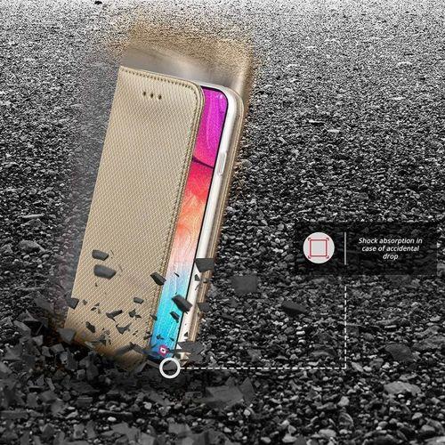 Etui MOTOROLA MOTO G8 PLAY / ONE MACRO portfel z klapką Flip Magnet złote