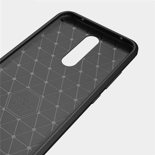 Etui Pancerne KARBON Xiaomi Redmi 8 czarny +szkło 5D