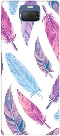 Etui ROAR JELLY fioletowe piórka na Sony Xperia 10