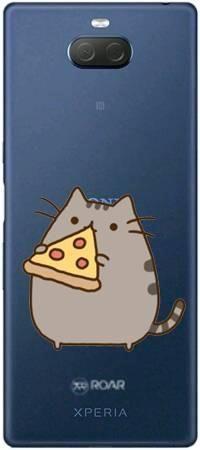 Etui ROAR JELLY koteł z pizzą na Sony Xperia 10