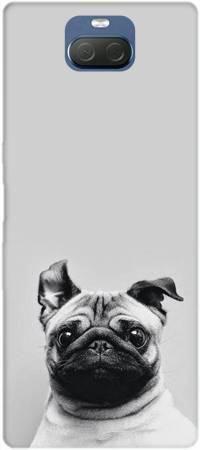 Etui ROAR JELLY mops na szarym tle na Sony Xperia 10