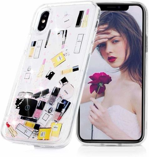 Etui SAMSUNG GALAXY A10 Liquid Make Up Brokat różowe