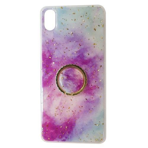 Etui SAMSUNG GALAXY A20E Marble Ring fioletowo-niebieskie