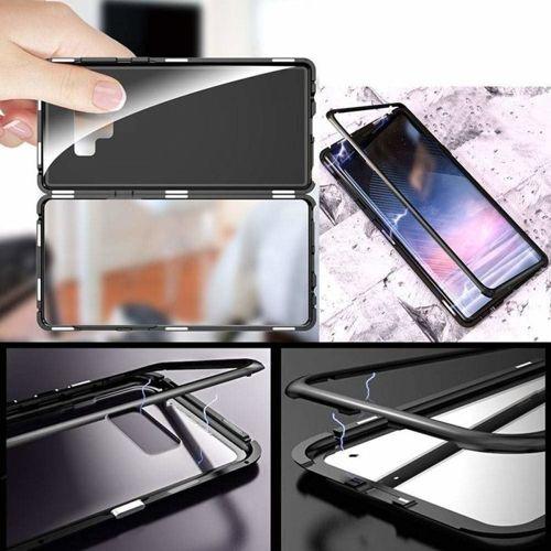 Etui SAMSUNG GALAXY S8 3w1 Double Magnetic 360 Aluminium i Szkło czarne