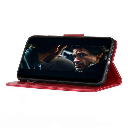 Etui Samsung Galaxy A51 Skórzane z klapką portfel Flip Magnet czerwone
