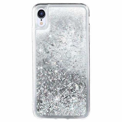 Etui Samsung Galaxy A70 Liquid plecki brokatowe srebrne