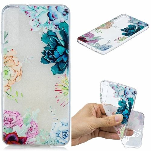 Etui Slim Art SAMSUNG A7 2018 kolorowe kwiaty