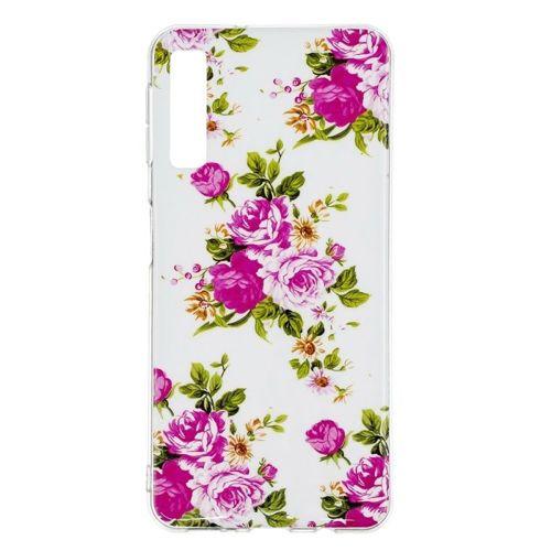 Etui Slim Art SAMSUNG A7 2018 żywy kwiat