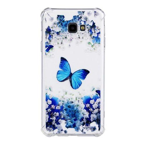 Etui Slim Art Samsung Galaxy J4+ J415 / J4 Prime niebieski motyl i kwiat