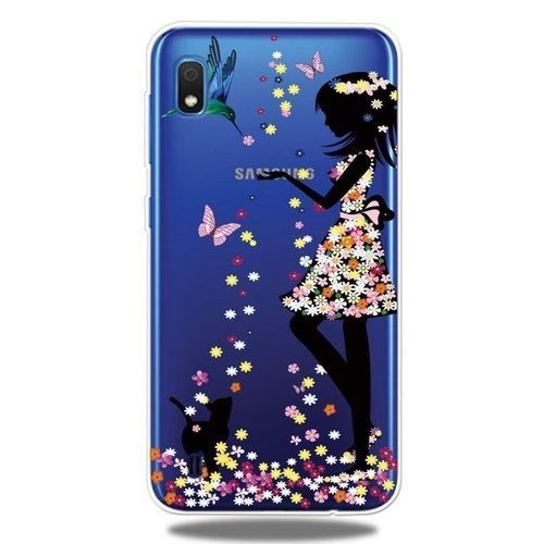 Etui Slim case Art SAMSUNG GALAXY A10 dziewczyna i kot