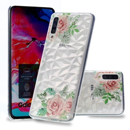 Etui Slim case Art Samsung Galaxy A50 różowe róże