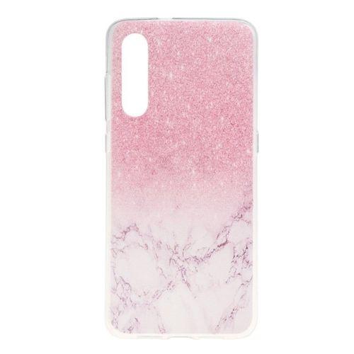Etui Slim case Art Wzory XIAOMI MI 9 różowy brokat i marmur