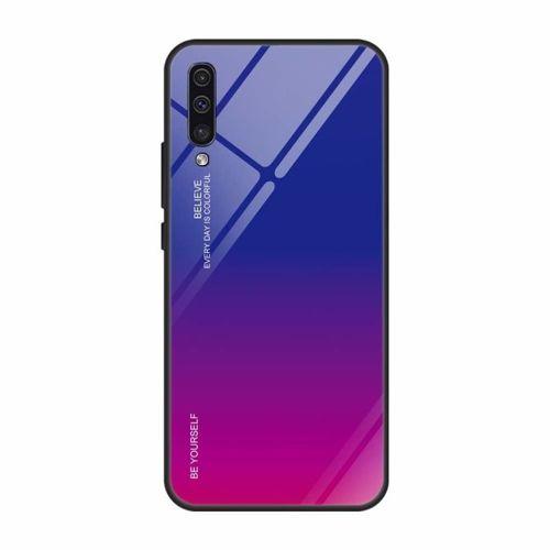 Etui Szklane Glass case Gradient SAMSUNG GALAXY A40 niebiesko-różowe