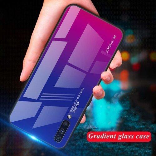 Etui Szklane Glass case Gradient XIAOMI REDMI 7A niebiesko różowe