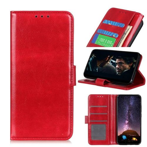 Etui XIAOMI MI NOTE 10 Skórzane z klapką portfel Flip Magnet czerwone