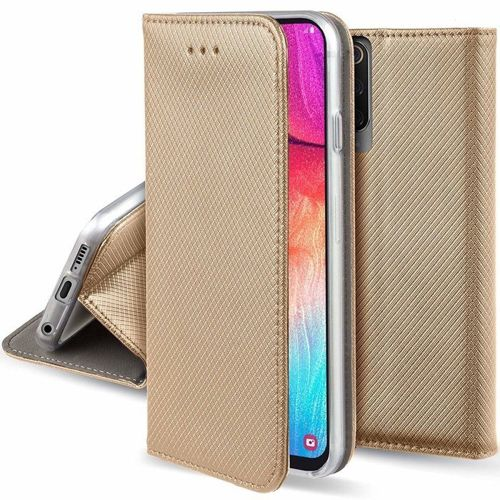 Etui XIAOMI MI NOTE 10 portfel z klapką Flip Magnet złote