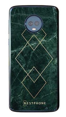 Etui art deco marmur zielony na Motorola Moto G6 Plus