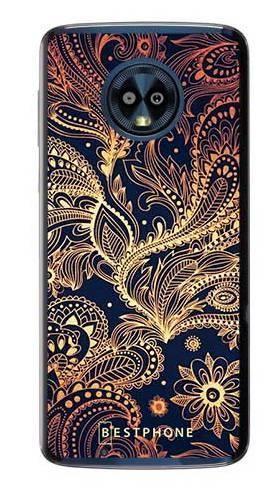 Etui art deco złote na Motorola Moto G6