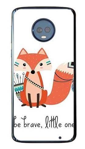 Etui dla dziecka odważny lisek na Motorola Moto G6 Plus