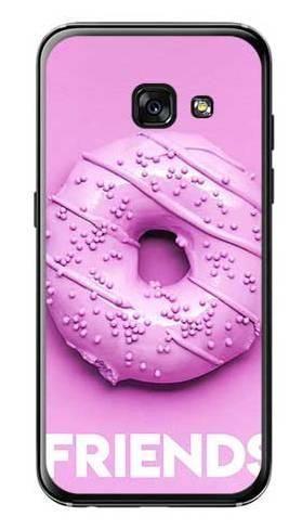 Etui dla przyjaciół friends donut fioletowy na Samsung Galaxy A3 2017