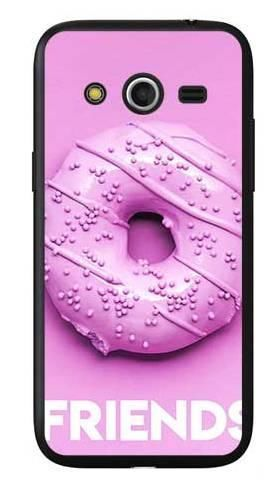 Etui dla przyjaciół friends donut fioletowy na Samsung Galaxy Core LTE