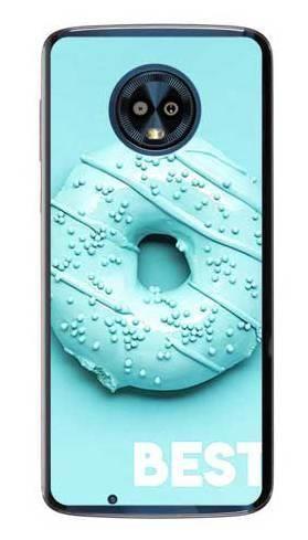 Etui dla przyjaciół friends donut niebieski na Motorola Moto G6