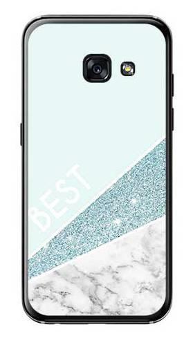 Etui dla przyjaciół friends glitter niebieski na Samsung Galaxy A3 2017